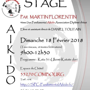 Dimanche 18 février Stage Fundamental Aïkido Combourg