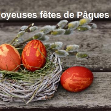 Dimanche 1er Avril Joyeuses Fêtes de Pâques!