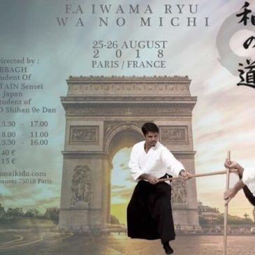 Stage Fundamental Aïkido PARIS 25 et 26 août 2018