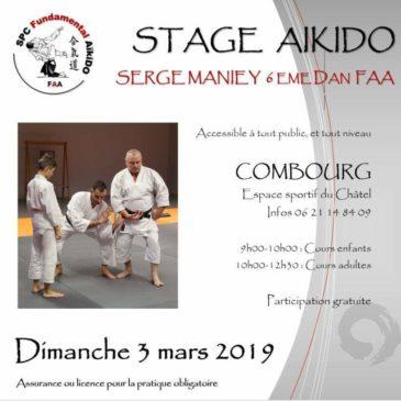 Stage aïkido Combourg 3 mars 2019