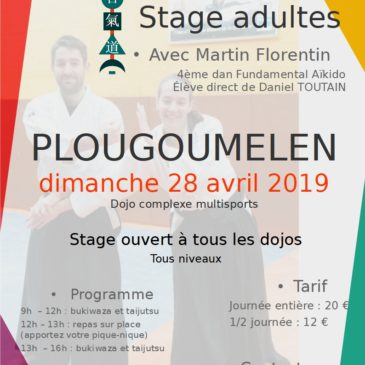 Prochain stage aïkido adultes le 28 avril