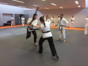 attaque avec ken de deux aîkidoka ceinture noire
