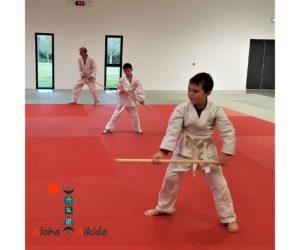 Cours d'aïkido intergénérationnel au dojo de Plougoumelen