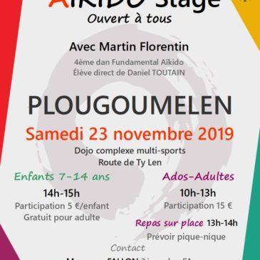Aïkido Stage pour tous Samedi 23 novembre 2019