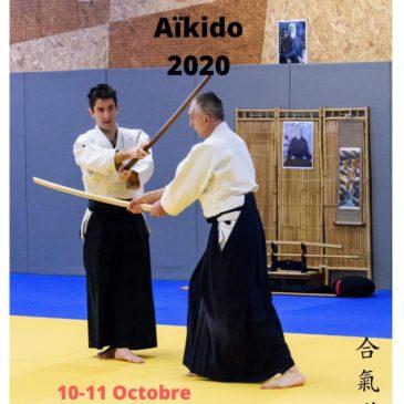 Rassemblement national aïkido à Dinard. Dojo de Plougoumelen fermé